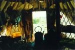 Inside yurt workshop 2004